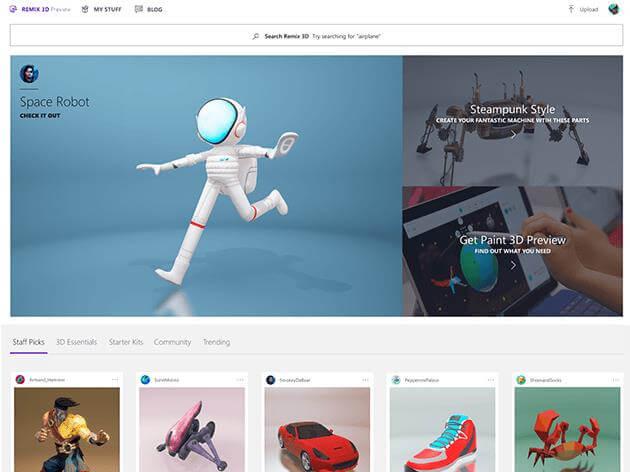 Снимок множества общедоступных 3D-изображений.