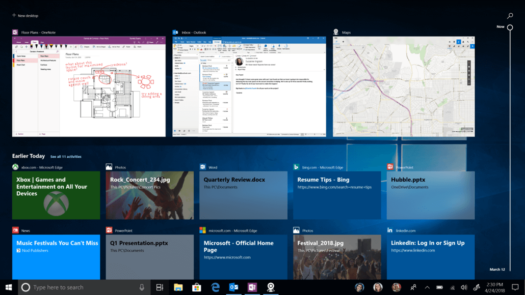 favorite windows feature timeline windows insider