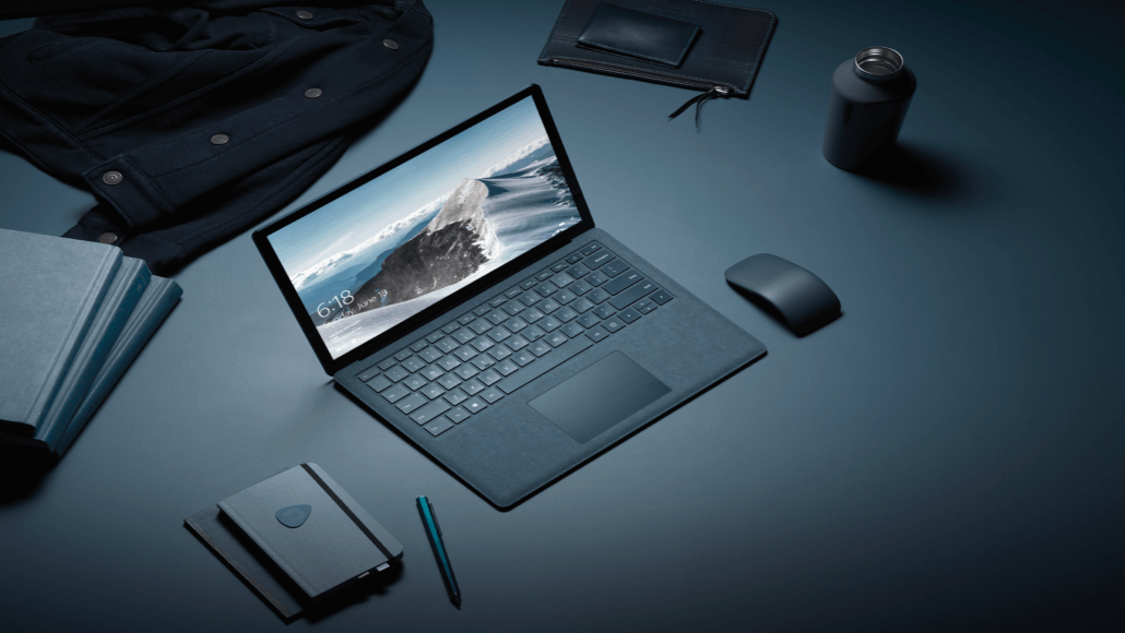 Microsoft Surface Laptop in cobalt.