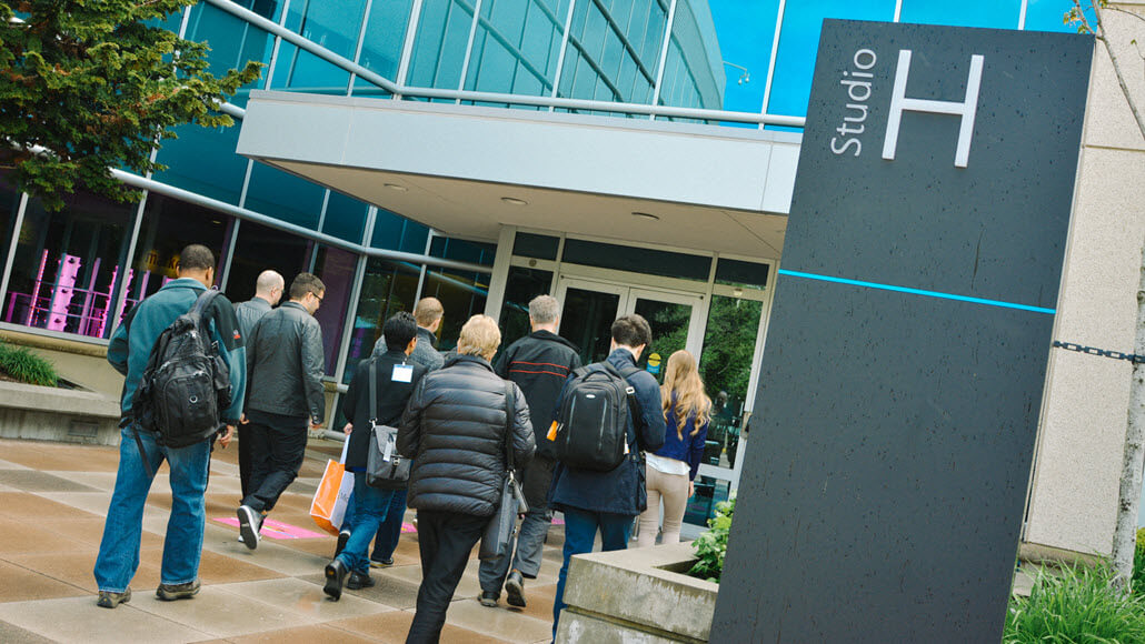 Insiders2Campus winners enter Microsoft building
