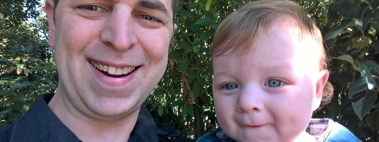 Mark Szili and son.