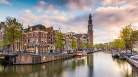 Amsterdam buildings.