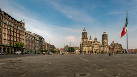 Mexico City buildings.