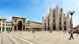 Milan buildings.