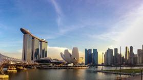 Singapore buildings.