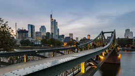 Frankfurt bridge.