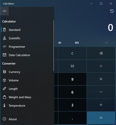 Screenshot of the Windows Calculator.