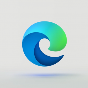 The new Microsoft Edge logo.